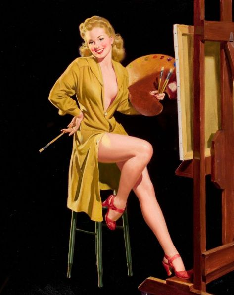 Pin-up with a Palette, Liberty Belles series AL BUELL