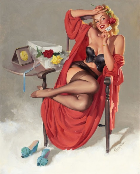 American Beauties (I Hope He Mrs. Me) by Gil Elvgren