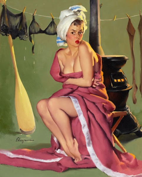 Blanket Coverage (And Now's the Time to See if Frozen Assets Can Be Thawed) by Gil Elvgren