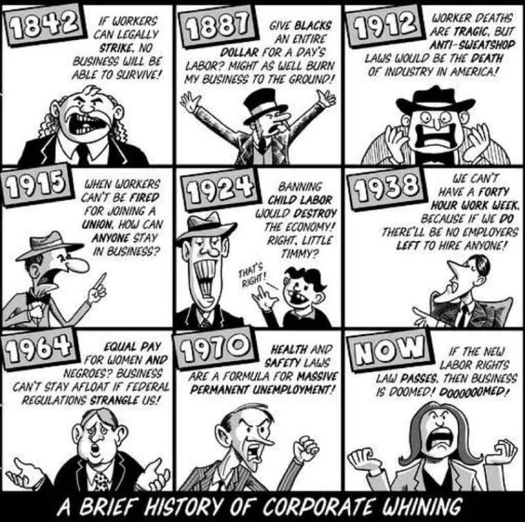 labor thru the years