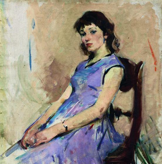 tired purple dress