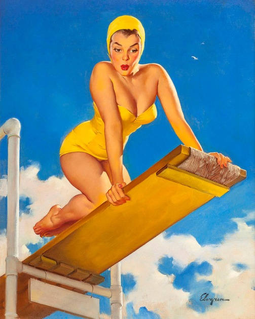 yellow diving board