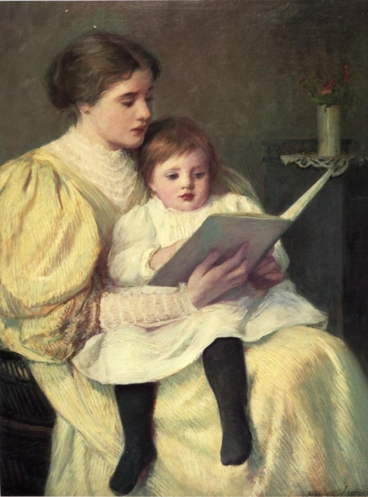 Paintings Of Mothers Mother And Daughter Oil Paintings Victorian Mother Amp Daughter At