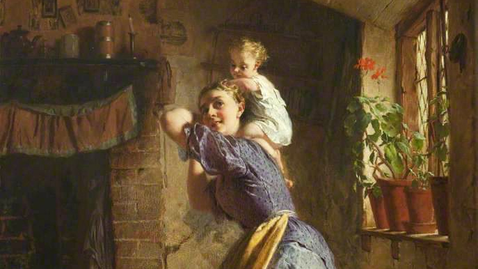 George-Elgar-Hicks-The-Happy-Mother-1886.jpg
