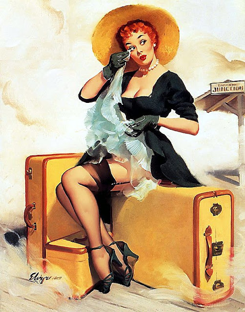 Welcome Traveller by Gil Elvgren