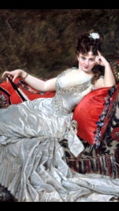 BrazenShe reclining lady is intrigued