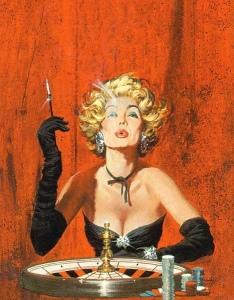 BrazenShe roulette game smoking pulp illustration